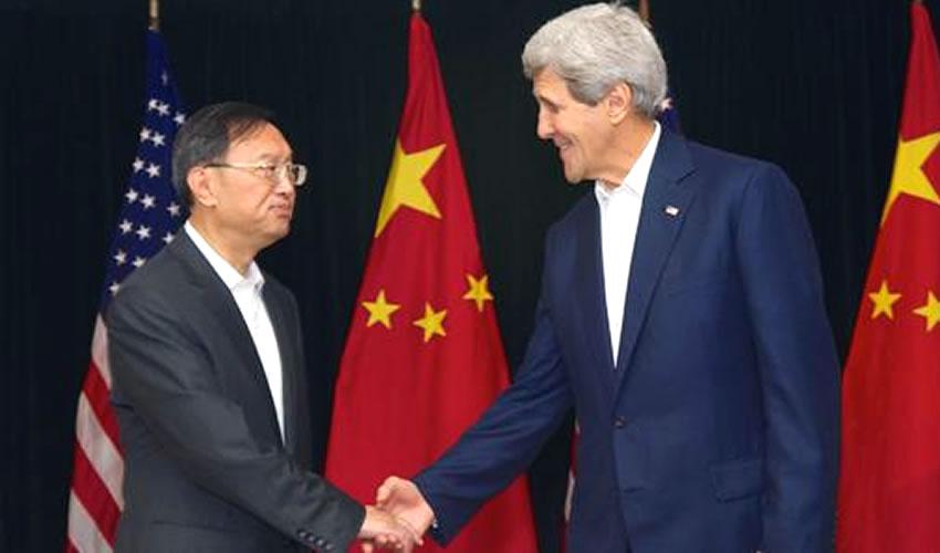 Dialogan Kerry y Yang Jeichi