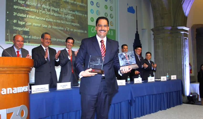 Obtiene Municipio de Aguascalientes Tres Reconocimientos a Nivel Nacional