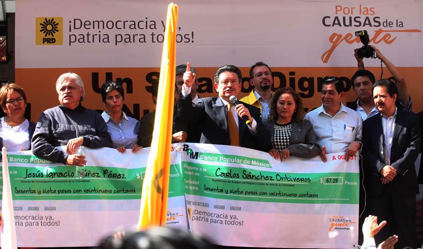 El Gobierno Debe Entender que la Gente Tiene que Ganar más: Carlos Navarrete