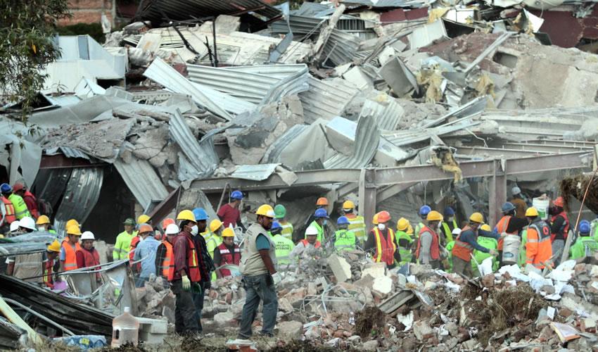 Explota Pipa en Hospital de Cuajimalpa