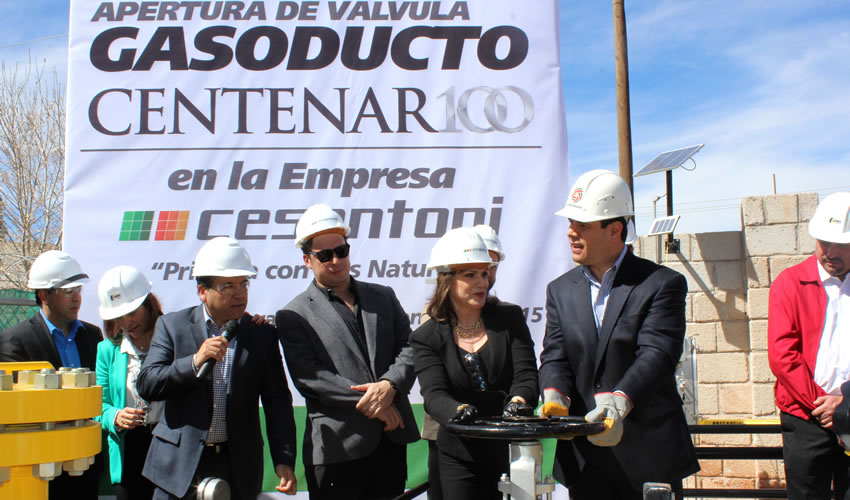 Abre Miguel Alonso la Válvula de gas Natural Para Cesantoni