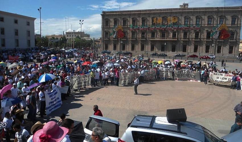 Revientan Protesta Contra  Gobernador de Chihuahua
