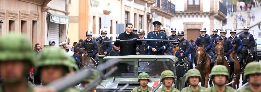 Encabezan MAR y Comandante Militar CIII Aniversario de la Marcha de la Lealtad