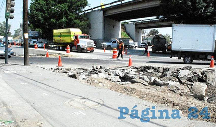 El cruce de Lázaro Cárdenas y 18 de Marzo fue recientemente abierto para la circulación vehicular, tras realizar obras de pavimentación/Foto: Cortesía