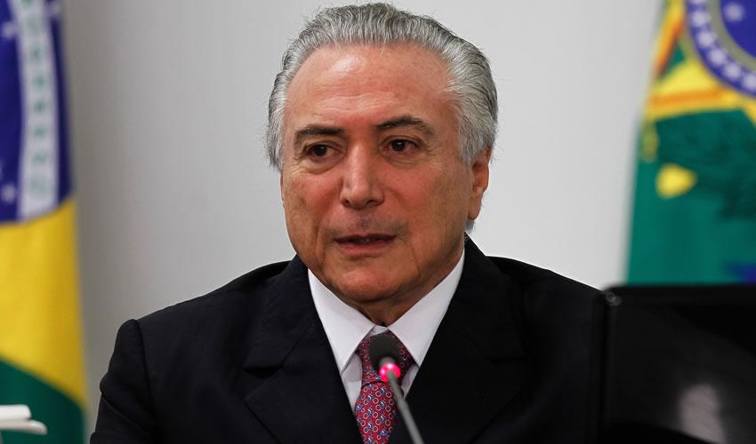 El presidente brasileño, Michel Temer (Foto: Archivo/Xinhua)