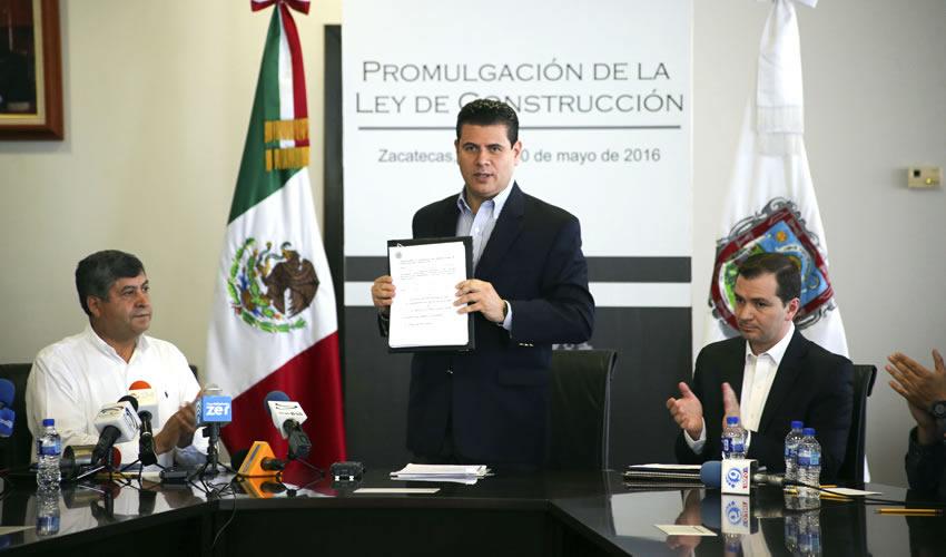 Promulga MAR Histórica ley de Construcción