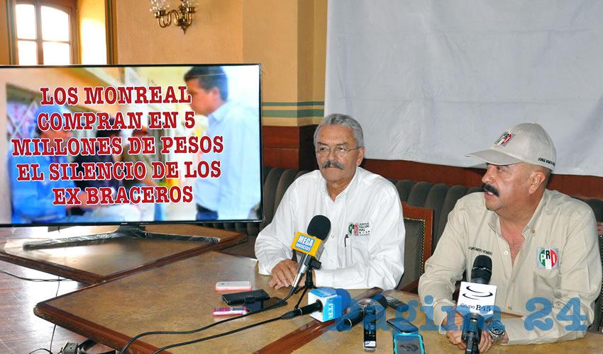 PRI Presenta Audio de Rafael Candelas y Ricardo Monreal Pactando 5 mdp Para ex Braceros