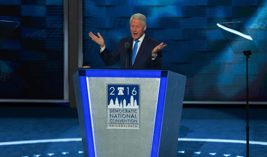 """""""Hillary es la Indicada"""", Advierte Bill  Clinton a los Delegados Demócratas"""