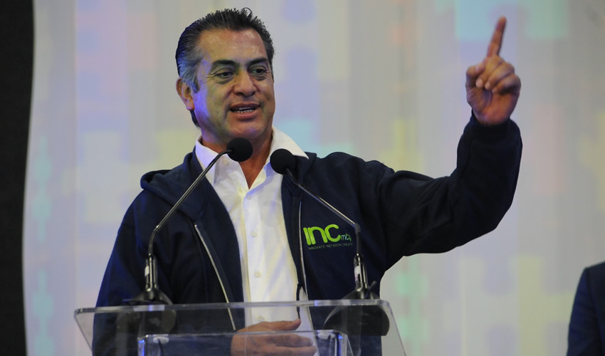 """El gobernador con licencia Jaime Rodríguez Calderón, """"El Bronco"""""""