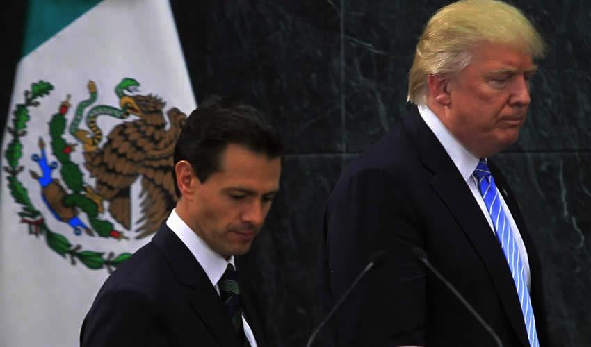 Enrique Peña Nieto, presidente de México, y Donald Trump, candidato a la Presidencia de Estados Unidos (Foto: Archivo/ Xinhua)