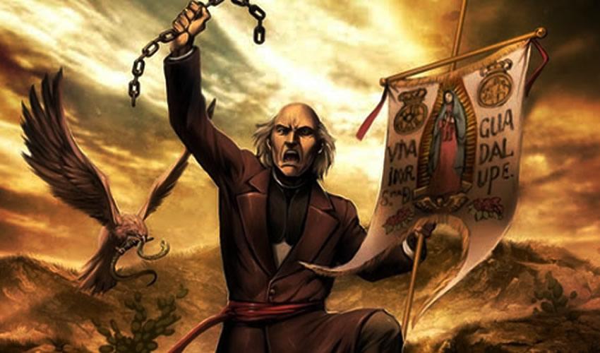 """Miguel Hidalgo y Costilla ...""""¡Muera el mal gobierno!"""", """"¡vamos a coger gachupines!""""..."""