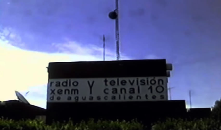 """1981: edificio de la radiodifusora y la televisora de la Casa de la Cultura (Tomado del documental """"Historia de Radio y Televisión de Aguascalientes"""")"""