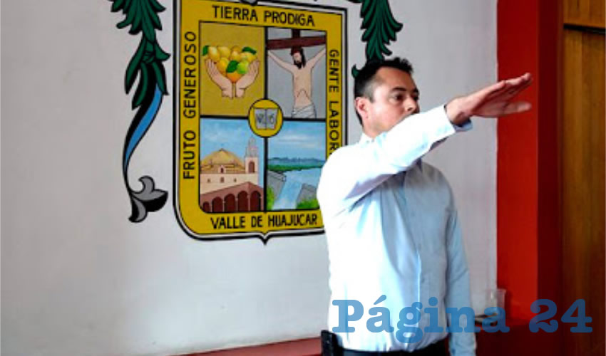 El panista Mario Alberto Morales Contreras, pasó de ser primer regidor a presidente municipal sustituto en el Ayuntamiento de Calvillo