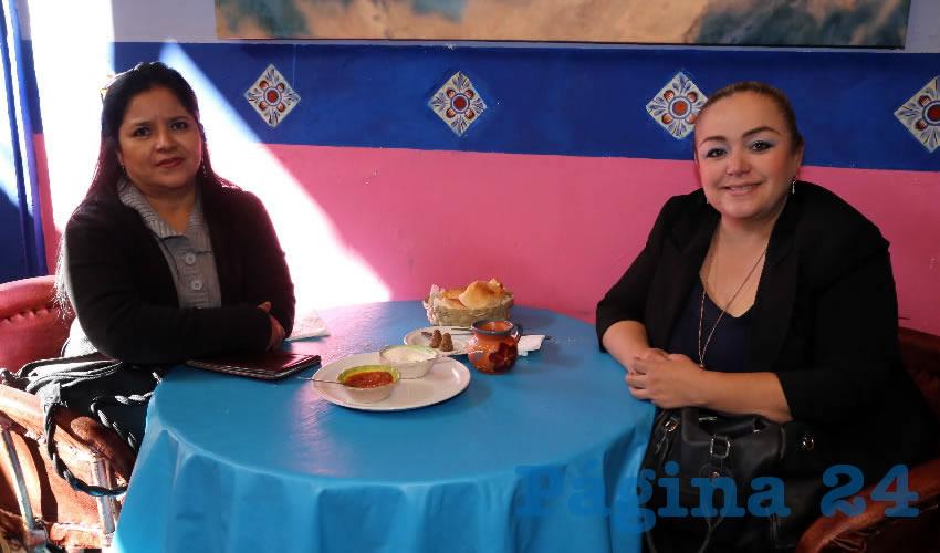En el restaurante La Saturnina almorzaron Nora Roldán Hernández y Katy Moreno Martínez