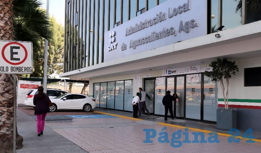 Instalaciones del Servicio de Administración Tributaria (SAT) en Aguascalientes (Foto: Archivo/Página 24)
