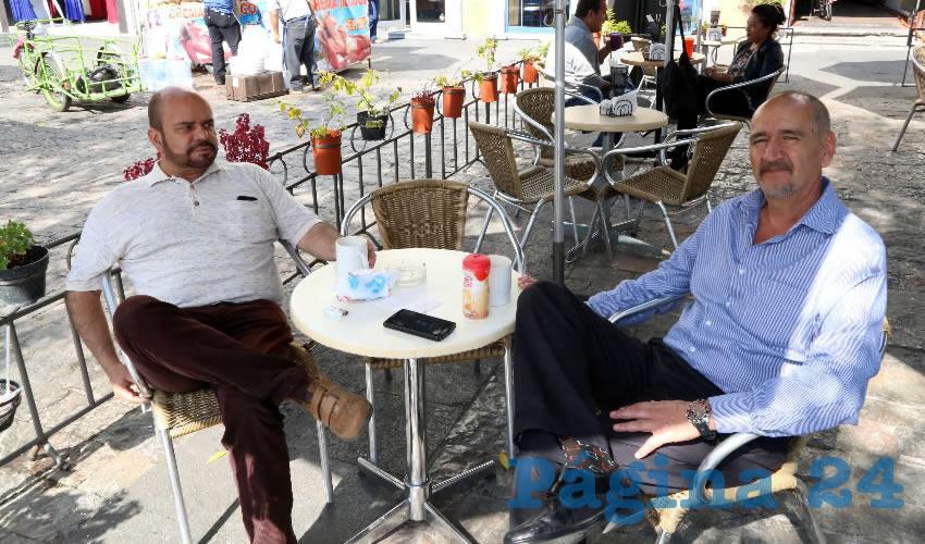 Jorge Orozco Sierra y Joaquín Romo Delgado se reunieron en Café Catedral