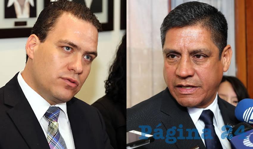 Francisco Ruiz López, presidente Estatal de la Coparmex | Héctor Benítez López, secretario de Seguridad Pública Municipal