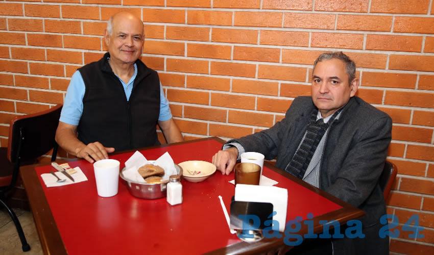 En Las Antorchas almorzaron José Alfredo Andrade García y Rigoberto Alonso Delgado, presidente de la Sala Administrativa y Electoral