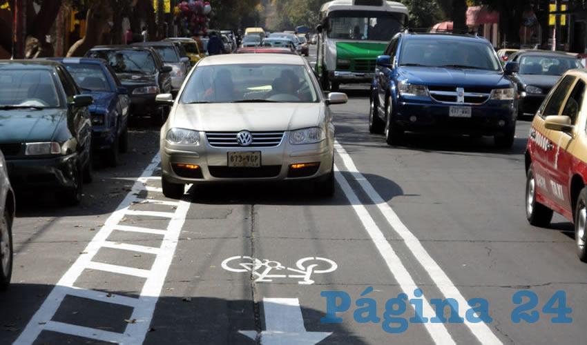 Actualmente se han generado apenas 60 kilómetros de vía ciclista en la Zona Metropolitana de Guadalajara de 200 que están proyectados dentro de la primera fase de un plan maestro de movilidad no motorizada/Foto: Cortesía