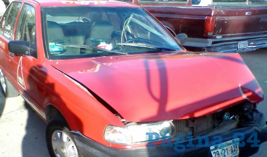 El taxi fue encontrado colisionado, horas después