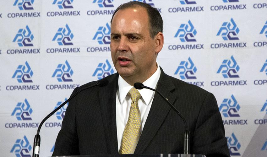 Gustavo de Hoyos Walther, presidente de la Coparmex (Foto: Archivo/ Galo Cañas/ Cuartoscuro)