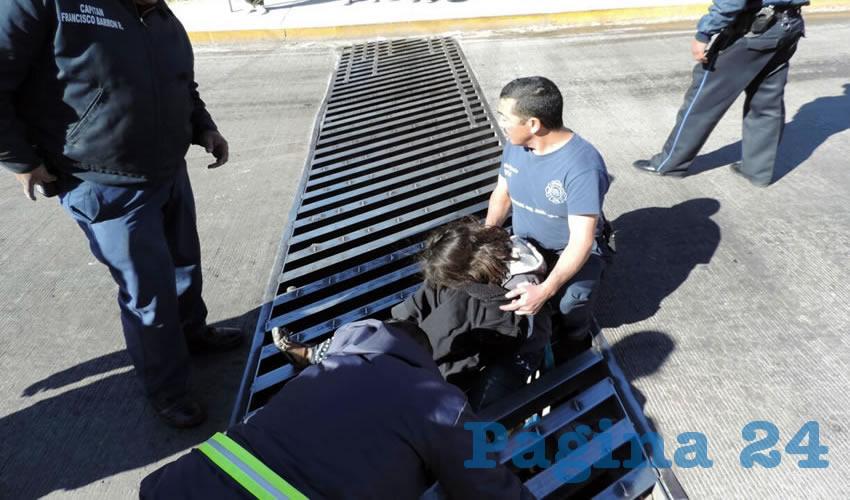 """La niña fue rescatada con el equipo de """"las quijadas de la vida"""""""