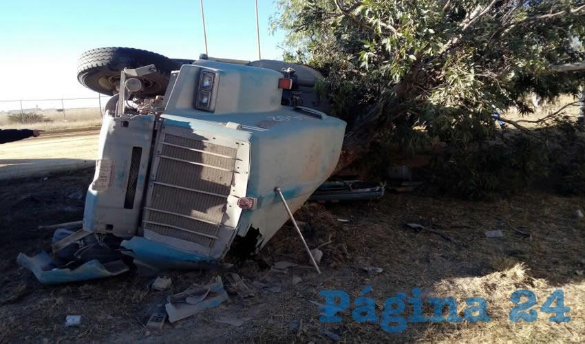 El percance ocurrió sobre el kilómetro uno de la carretera estatal dos, al Sur de la ciudad