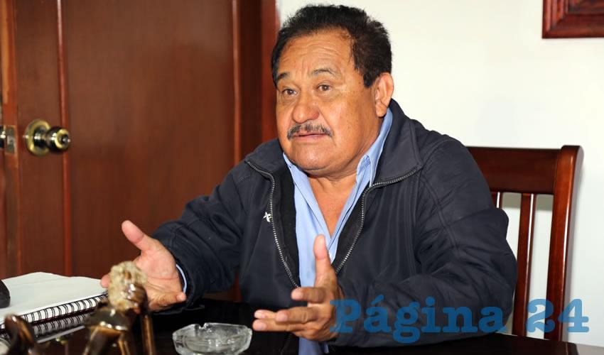 Manuel Medina Ortega, coordinador del Movimiento de Resistencia Civil Pacífica contra los gasolinazos