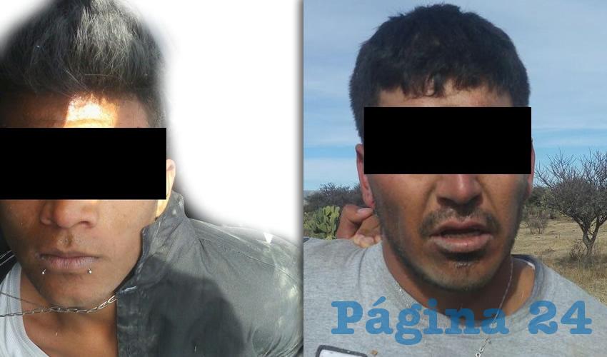 Dos de los cuatro pistoleros detenidos en las inmediaciones de la comunidad Tapias Viejas, en Jesús María