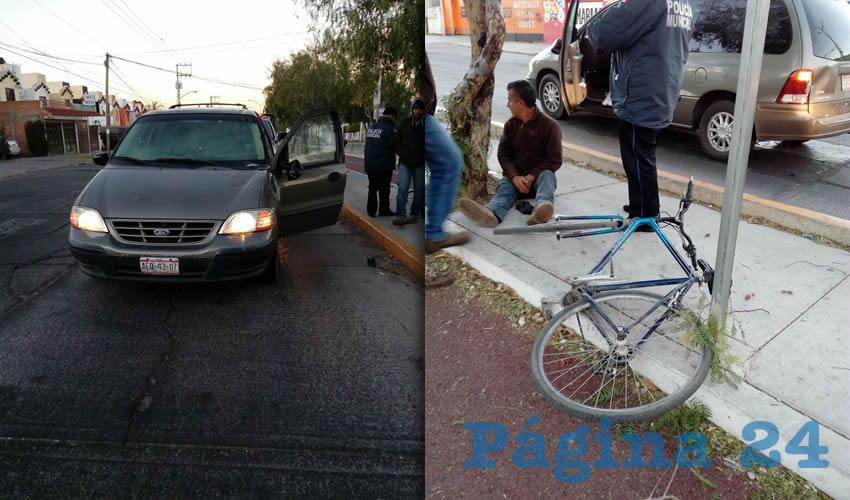 Embisten a un Ciclista