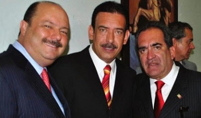"""César Duarte Jáquez, Humberto Moreira Valdez y Carlos Lozano de la Torre ...""""Dios lo hace y ellos se juntan""""..."""