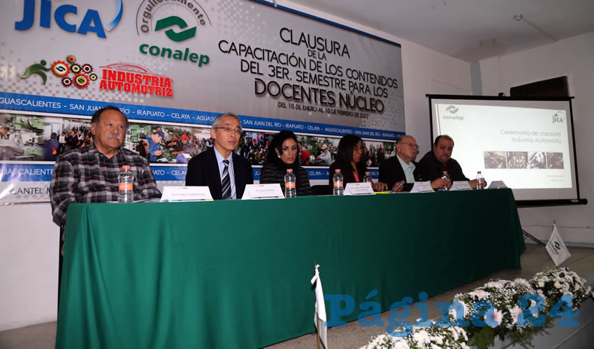 Se llevó a cabo la Clausura de Capacitación a Docentes del Conalep de la carrera de Industria Automotriz (Foto: Eddylberto Luévano Santillán)