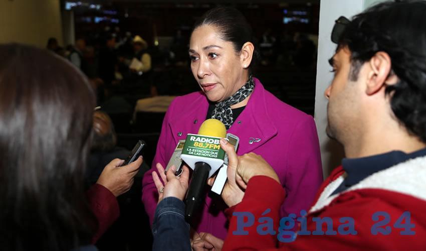 María del Carmen Mayela Macías Alvarado, legisladora local (Foto: Eddylberto Luévano Santillán)