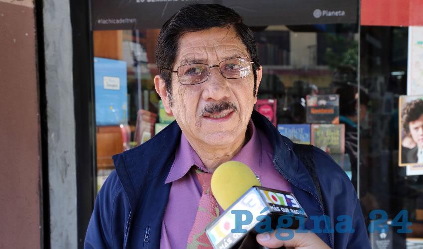 Refugio Marín Ruiz, secretario general de la CROC en Aguascalientes