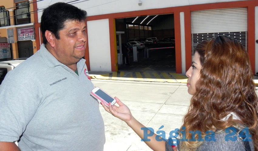 Juan Armando Martínez Godínez, secretario general del Sntsepomex en Aguascalientes (Foto: Eddylberto Luévano Santillán)