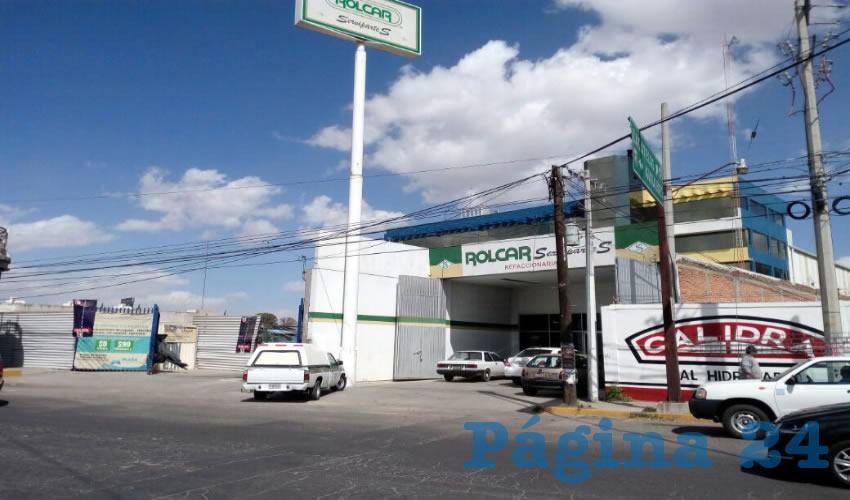 """La sucursal de Rolcar del fraccionamiento Las Hadas fue """"visitada"""" por un caco"""