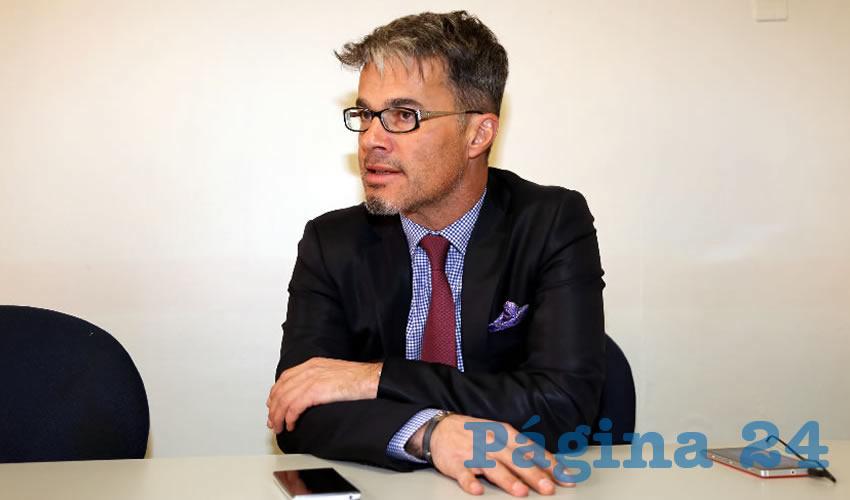 Philip García, consejero comercial de la Embajada de Francia en México (Foto: Eddylberto Luévano Santillán)