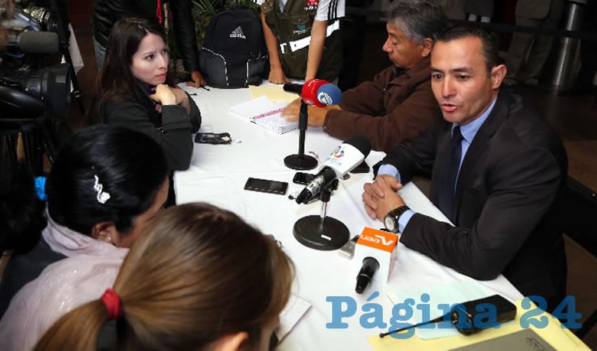 Israel Díaz García, director de Mercados del Municipio (Foto: Eddylberto Luévano Santillán)
