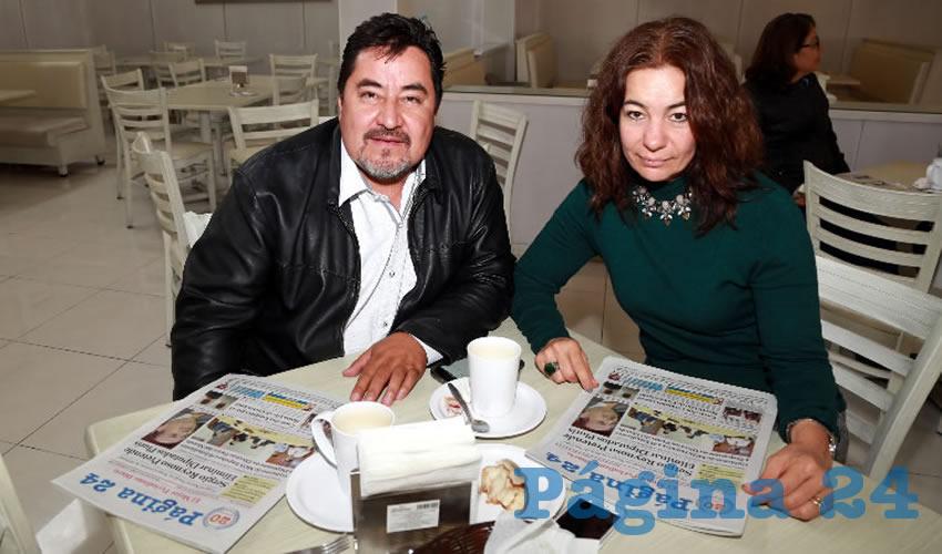 En el restaurante Del Centro almorzaron Jorge Hadad Vergara y Raquel Chávez Gutiérrez