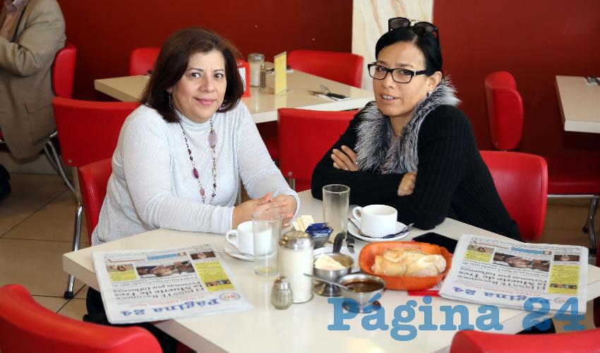 En el restaurante Mitla almorzaron Loreina Loreto Domínguez y Ericka Italia León de la Rosa