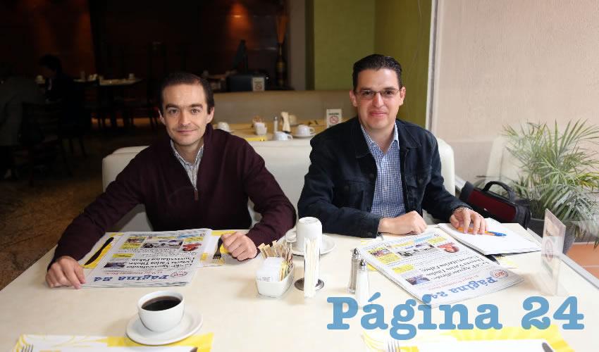 En el restaurante Quality Inn almorzaron Miguel Romo Reynoso, regidor del Municipio de Aguascalientes, y Ricardo Prieto Flores