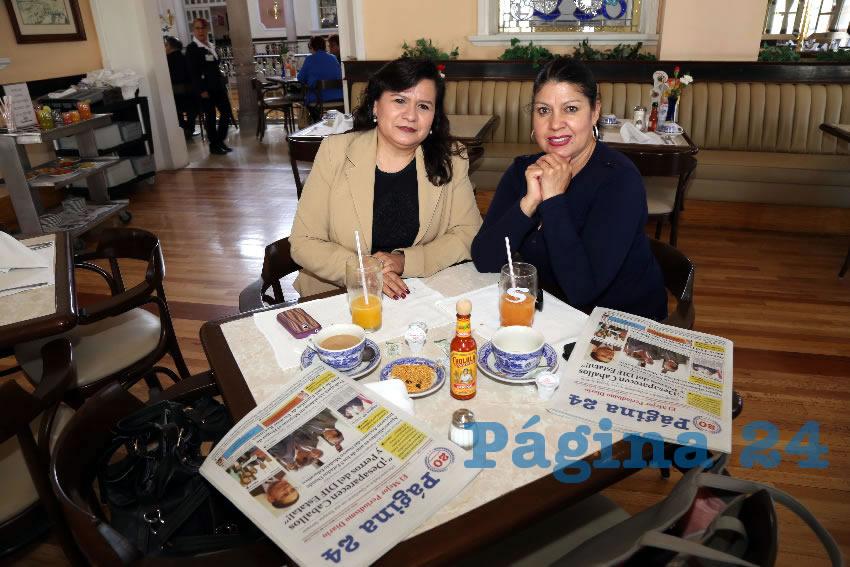 En Sanborns Francia almorzaron Rosa María López Cruz y Evelyn Delgado Villalobos