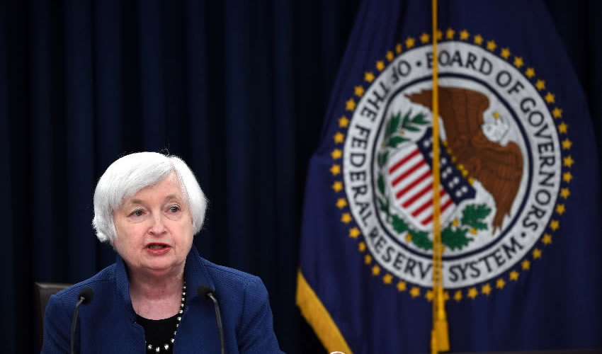 Washington, EU.- La presidenta de la Reserva Federal de Estados Unidos de, Janet Yellen, durante conferencia de prensa (Foto: Yin Bogu/ Xinhua)