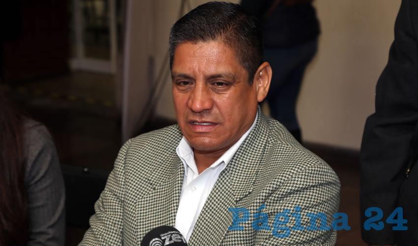 José Héctor Benítez López, secretario de Seguridad Pública Municipal (Foto: Eddylberto Luévano Santillán)