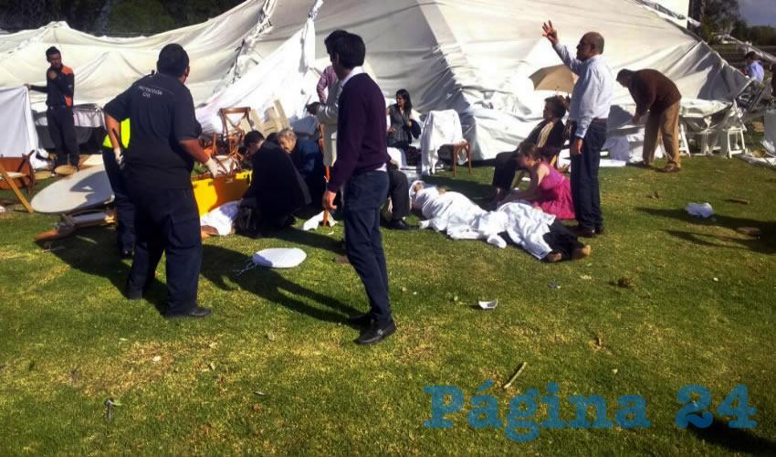 En el jardín de eventos Jardín Focaccia ocurrió el accidente, cuando se celebraba el bautizo de seis menores de edad