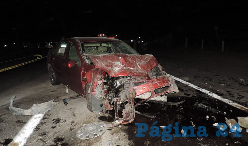 Los dos heridos tripulaban el automóvil Volkswagen Jetta