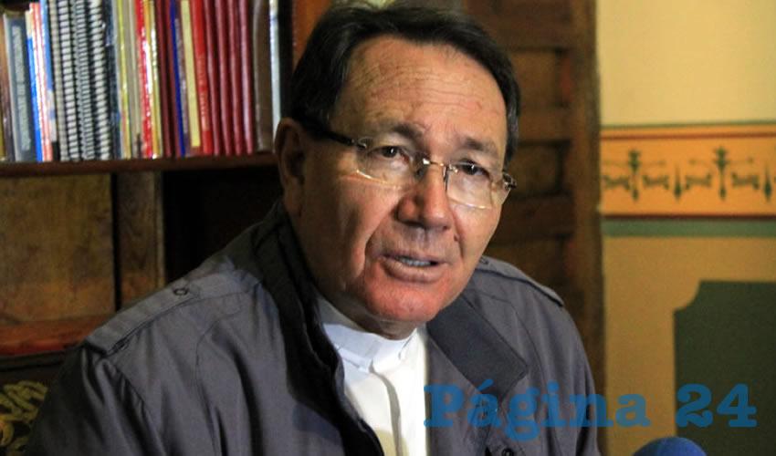 """Sigifredo Noriega Barceló: """"No debemos acostumbrarnos a la violencia """" (Foto Rocío Castro Alvarado)"""