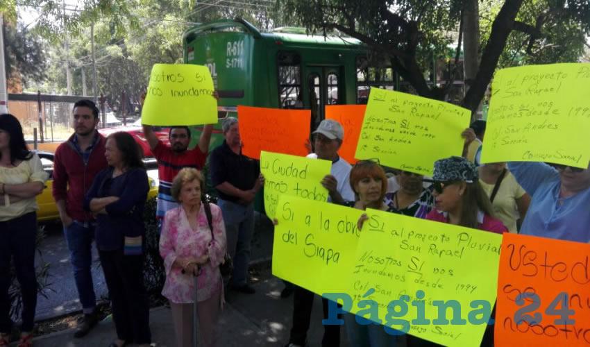 """""""Sí queremos colector  en el Parque San Rafael"""""""