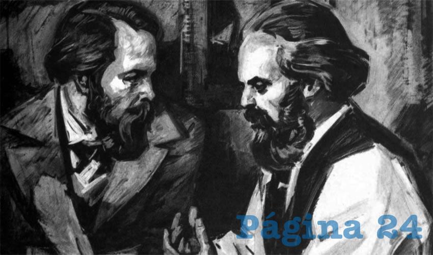 Friedrich Engels y Karl Marx, padres del Materialismo Histórico