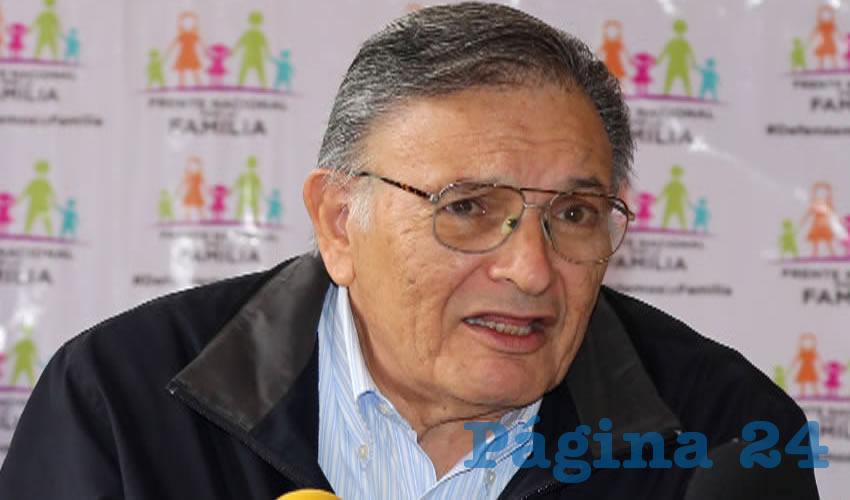 Carlos García Villanueva, coordinador en Aguascalientes del Frente Nacional por la Familia